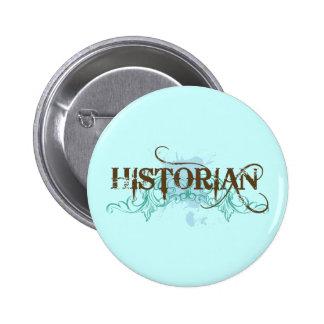 Bouton bleu frais d'historien badge