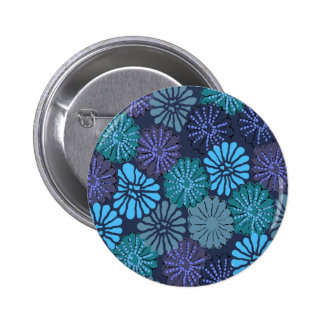 Bouton bleu japonais badges