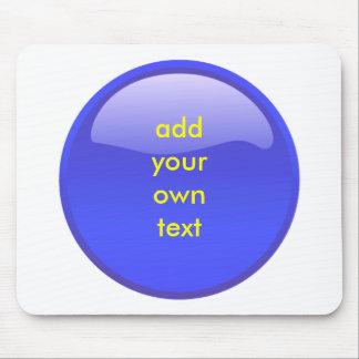 bouton bleu tapis de souris