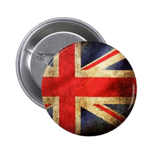 Bouton britannique grunge de drapeau badge avec épingle