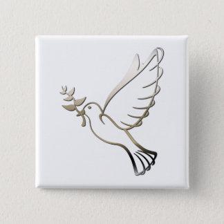 Bouton carré de colombe badges