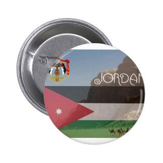 Bouton carré de la Jordanie Badges