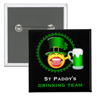 Bouton carré potable d'équipe du jour de St Badges