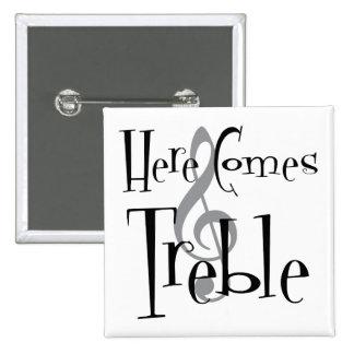 Bouton carré triple badges