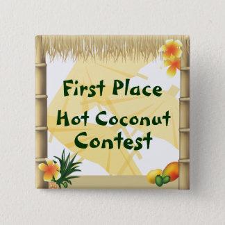 Bouton chaud de récompense de noix de coco de pin's