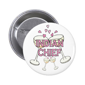 Bouton Chef indien Pin's Avec Agrafe