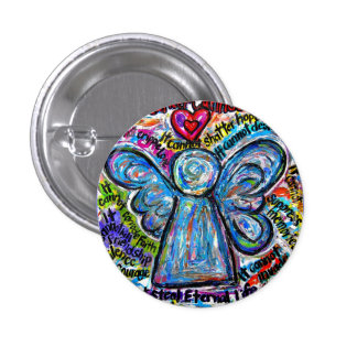 Bouton coloré d'art de peinture d'ange de Cancer o Badge