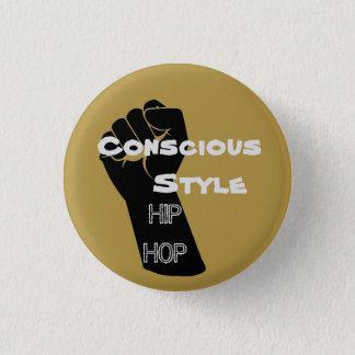 Bouton conscient de hip hop de style de moutarde badges