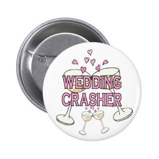 Bouton : Coup retentissant de mariage Badge Rond 5 Cm