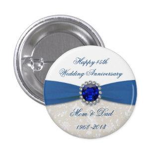 Bouton d anniversaire de mariage de damassé quaran pin's avec agrafe