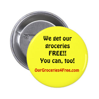 bouton d OurGroceries4Free com Pin's Avec Agrafe