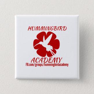 Bouton d'académie de colibri badge