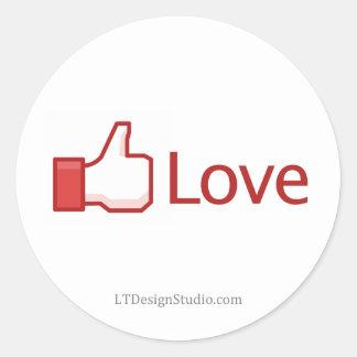Bouton d'amour de Facebook - autocollants