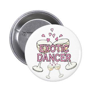 Bouton : Danseur exotique Pin's Avec Agrafe