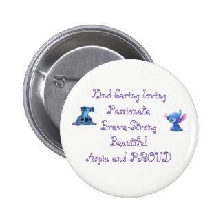 Bouton d'Aspie pour des femmes Badge