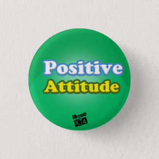 Bouton d'attitude positive badge