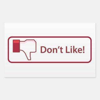 Bouton d'aversion sticker rectangulaire