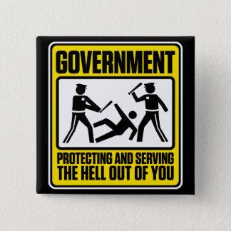 Bouton d'avertissement de gouvernement badges