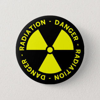 Bouton d'avertissement de rayonnement badge
