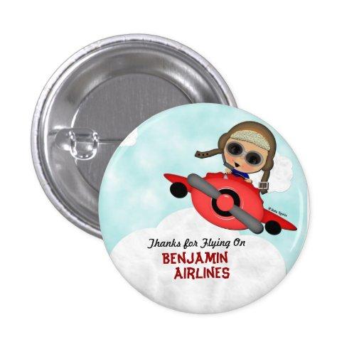 Bouton d'avion d'anniversaire badges