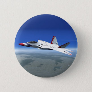 Bouton d'avion de combat de jet d'anges bleus de badges