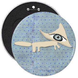 bouton de キツネ de garçon bleu de pois de 装身具 de Fox Badge