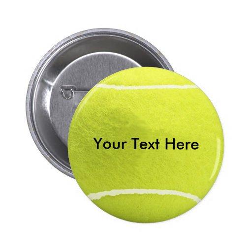 Bouton de balle de tennis pin's avec agrafe
