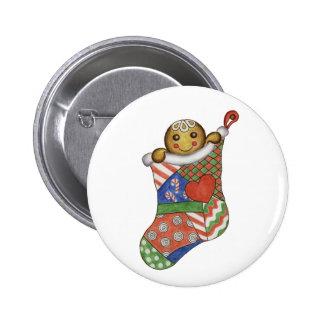 Bouton de bas de pain d'épice de Noël Badges