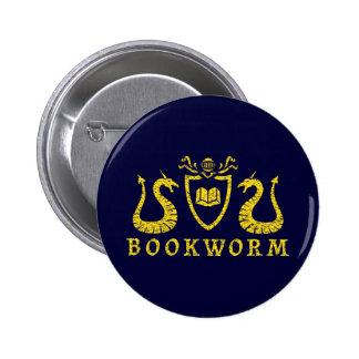 Bouton de blason de rat de bibliothèque pin's