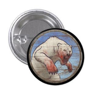 Bouton de bouclier de Viking - ours blanc Pin's Avec Agrafe