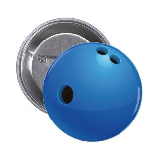 Bouton de boule de bowling badges avec agrafe