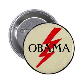Bouton de boulon de foudre d'OBAMA Badge