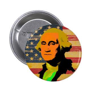 Bouton de Bruit-Art de drapeau américain de George Badge