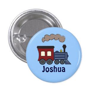Bouton de cadeau d'anniversaire de train d'enfants badge rond 2,50 cm