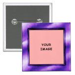 Bouton de cadre de photo de pourpre royal badges avec agrafe
