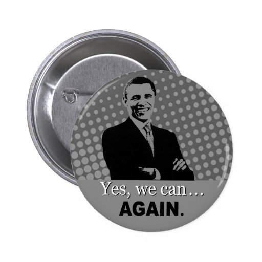 Bouton de campagne d'Obama 2012 - oui nous pouvons Pin's