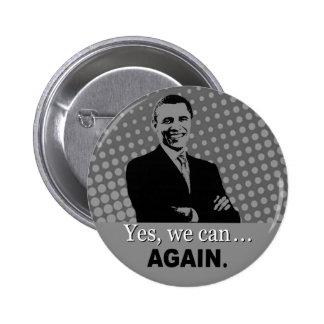 Bouton de campagne d'Obama 2012 - oui nous pouvons Badge Rond 5 Cm