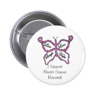 Bouton de cancer du sein de soutien badges avec agrafe