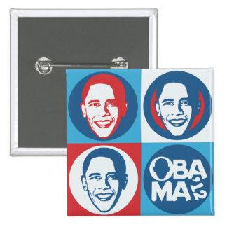 Bouton de carré d'art de bruit d'Obama 2012 Badge Carré 5 Cm