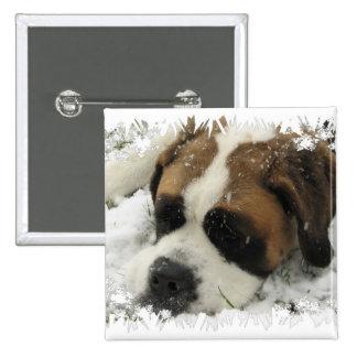 Bouton de carré de chien de St Bernard Badges