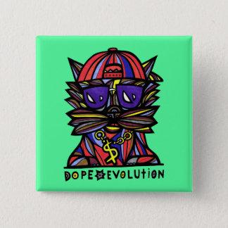 """Bouton de carré """"d'évolution de dopant"""" pin's"""
