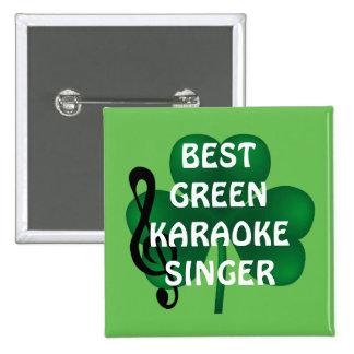 Bouton de chanteur de karaoke du jour de St Badge