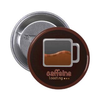 Bouton de chargement de caféine badges
