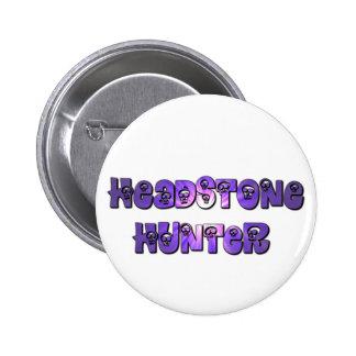 Bouton de chasseur de pierre tombale dans le pourp badge rond 5 cm