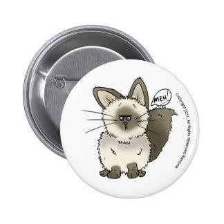 Bouton de chat de Meh Badge
