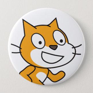 Bouton de chat d'éraflure badges