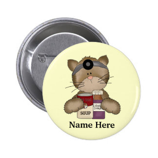 Bouton de chat d'infirmière badges