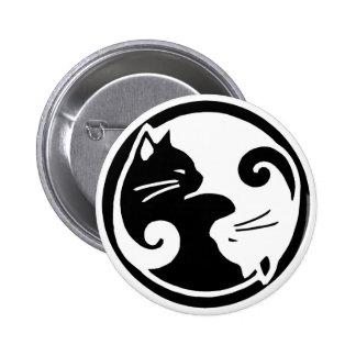 Bouton de chats de Yin Yang Badge Rond 5 Cm