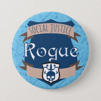 Bouton de classe de justice sociale : Escroc Badges