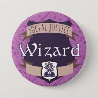 Bouton de classe de justice sociale : Magicien Pin's